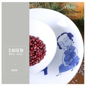 玉柏陶瓷餐具景德镇青花瓷碗中式日用送礼骨瓷餐具套装《福禄图》