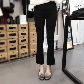 【一条时尚的喇叭裤】韩国新款休闲裤 弹性超好 明星同款