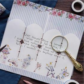 爱丽丝梦游记胶带diy装饰小贴纸 文具