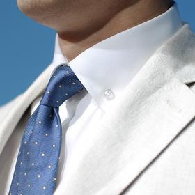 高唯 白色/蓝色80支牛精纺美式衬衫