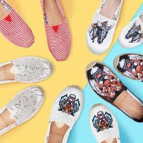 """美国加州 J&M 夏季""""懒人鞋""""!野生动物 / 条纹 / 镂空 3系列多色可选!穿上不想脱!这双一脚蹬,全家都爱穿!轻便、舒适、超透气!2018新款,去哪都穿它!全家亲子款!"""