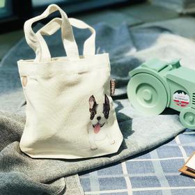 【3000积分可免费兑换】日子byLOHAS|萌犬环保袋(小号)|结实耐用|便当包随身包