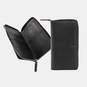 NAVA 真皮牛皮实用拉链手包可防护照 | 2 款(意大利)