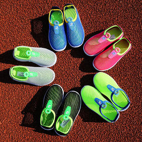 儿童运动鞋男童网鞋夏季女童凉鞋大童透气网面网眼一脚蹬学生鞋