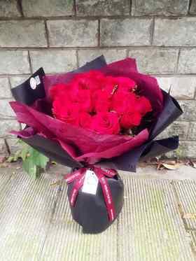19枝玫瑰花束