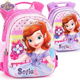 幼儿园儿童书包2-6女童迪士尼小公主苏菲亚卡通小孩宝宝双肩背包