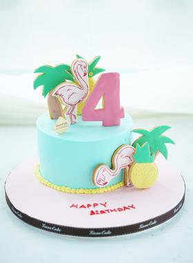 给你一整个热带~火烈鸟 菠萝 饼干 蛋糕