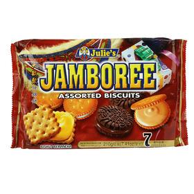 马来西亚进口零食点心茱蒂丝大欢聚什锦夹心饼干210g