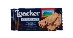 食品Loacker莱家巧克力味威化夹心饼干糕点45g
