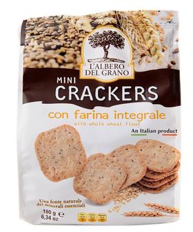 意大利进口 多恩 迷你全麦薄脆饼干全麦粗粮180g休闲小零食