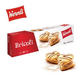 瑞士万恩利wernli巧客蒂心形焦糖奶油巧克力夹心饼干100g新鲜到货