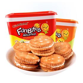 印尼进口 可尼斯奶酪味夹心饼干整箱早餐零食盒装600g