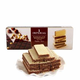 帝皇巧克力榛子味夹心威化饼干100g盒装泰国进口茶糕点零食小吃