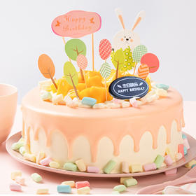萌小兔乐园蛋糕