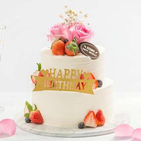 花与爱丽丝蛋糕