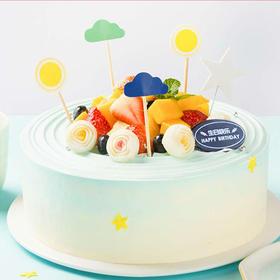 蔚蓝星辰  蛋糕