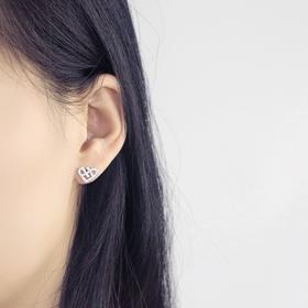 密密家」S925纯银日韩版甜美爱心形耳钉气质简约淑女百搭网红同款