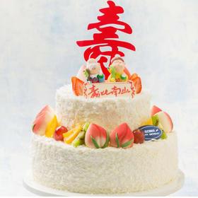 仙桃献瑞  蛋糕