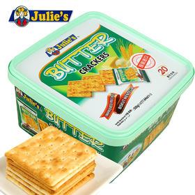 马来西亚进口零食julies茱蒂丝奶油苏打饼干早餐薄脆饼干500g