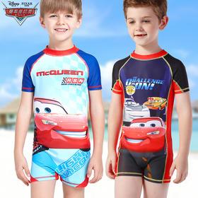男童泳衣迪士尼中大童学生速干连体沙滩冲浪服宝宝泳装儿童游泳衣
