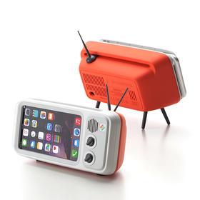 韩国Retroduck iPhone复古电视支架 充电音响底座扬声器 创意配件