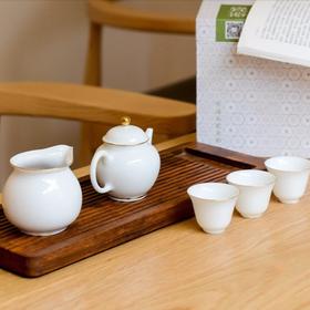 古镇陶瓷景德镇功夫茶具套装茶盘茶壶茶杯家用实木茶道杯整套茶盘