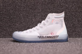 【情侣款】OFF-WHITE x Converse Chuck Taylor All Star 1970s|AA3836-100 水晶底