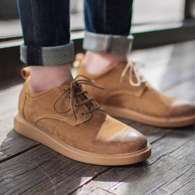 【帅气百搭有型】柔软舒适透气皮面工装休闲鞋
