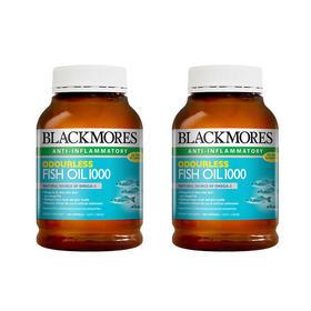 2瓶装 |【调节三高】澳洲 澳佳宝 Blackmores 深海鱼油胶囊 无鱼腥味 400粒
