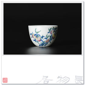 长物居 仿雍正手绘斗彩瓷器茶杯小杯 景德镇手工仿古陶瓷茶具