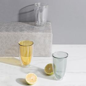 纳谷 | Stained 撞色隔热双层玻璃杯