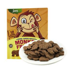 健仕巧克力味动物形饼干