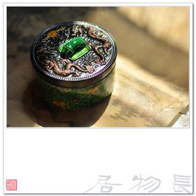 长物居 素三彩陶瓷茶叶罐 陶瓷茶仓 瓷器茶罐 小饰品盒 景德镇陶瓷茶叶盒