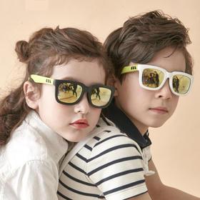 【5-12岁】韩国进口 COCOLIC 儿童偏光太阳镜 CURIOUS 系列!方窗型款,多色可选,优质硅胶材料,撞色时尚设计