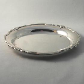 【菲集】艺术品 925纯银银盘 收藏品轻古董 银器餐具 跨境直邮