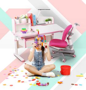爱学习儿童学习桌可升降儿童写字桌椅套装家用 小学生书桌椅组合 | 基础商品