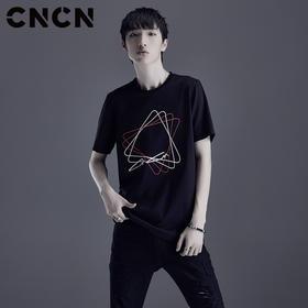夏季印花T恤 男纯棉薄款圆领体恤衫CNDT20966