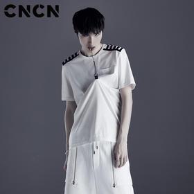 CNCN男装 夏季新品个性T恤 CNDT20968
