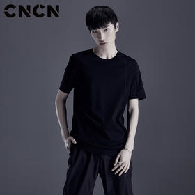 CNCN男装夏季新品短袖T恤 男士休闲百搭T恤