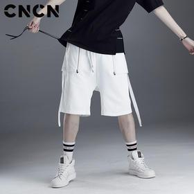 CNCN男装 夏天男生休闲运动短裤 潮牌夏季薄裤子五分裤CNDK29161