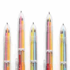 6色多功能可按动圆珠笔