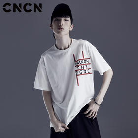 CNCN 男装夏季字母休闲T恤 CNDT20979