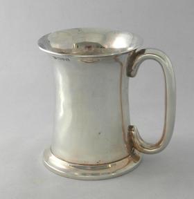 【菲集】艺术品 1910年纯银带柄杯子 容器 收藏品 跨境直邮