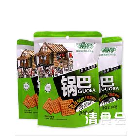 【清真】哈牙清真锅巴 零食 西安特产回民小吃  口味随机混合搭配 105g*5袋装【香辣味、孜然味】