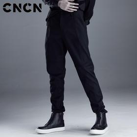 CNCN男装2018春季新款修身休闲裤 落裆舒适百搭裤子 CNDK19115