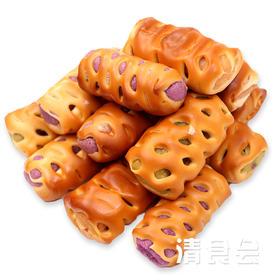 【清真】面包卷   休闲食品  绿豆卷红豆卷紫薯卷混合搭配  275克/袋*3袋包邮