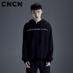 CNCN男装 2018春季新款套头卫衣 个性拼接设计卫衣 CNDH10945