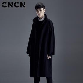 CNCN男装春新款中长款风衣 男士潮流暗黑外套 CNDF19102