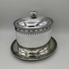 【菲集】艺术品 维多利亚时期镀银饼干桶 收藏品 跨境直邮