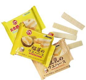 卡曼威化饼干 52g 豆乳 榴莲芝士